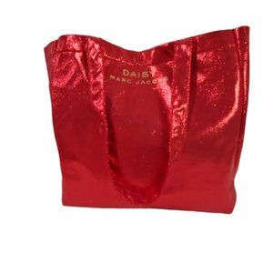 MARC JACOBS Daisy Parfums Red Glitter Tote Bag